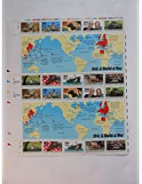 1941 WWII A World At War Collectible 29 Cent Stamp Sheet