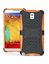 Cubix Defender Series Dual Layer Hybrid TPU + PC Kickstand Case Cover for Samsung Galaxy Note 3 N9005 - orange