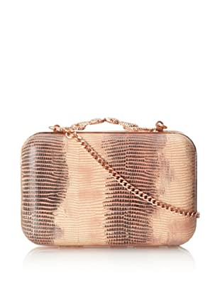 House of Harlow 1960 Women's Marley Minaudiere (Salmon Lizard)