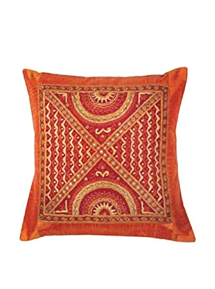 Mela Artisans Cosmic Connection Cushion Cover (Orange)