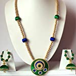 Beautiful Silk Thread Necklace with Matching Jhumki Earrings