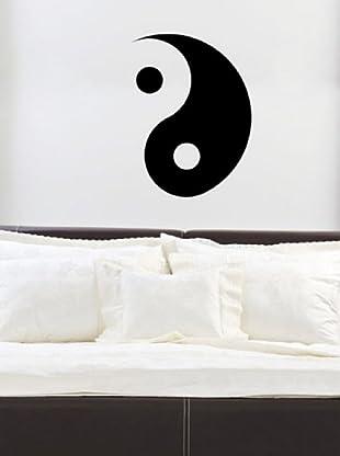 Ambience Live Vinilo Adhesivo Yin Yang Moderno Negro