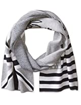 Psycho Bunny Men's Double Flag Graphic Scarf, Heather Cliff, One Size