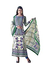 Texclusive Women's Crepe Semi-Stitched Salwar Suit Set (Texcrepe8 _Multi-Coloured _Free Size)