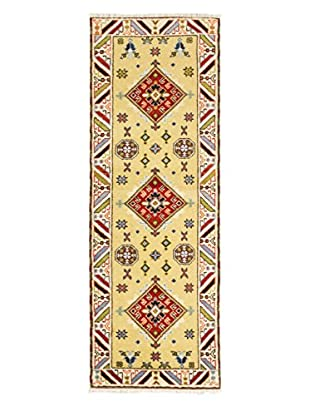 Hand-Knotted Royal Kazak Rug, Light Yellow, 2' 10