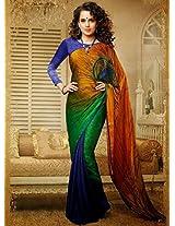 Kangana Ranaut Multicolor Bollywood Saree