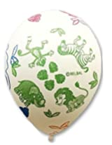 GrandShop 50293 Balloons Animals Printed White (Pack of 25)