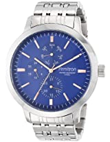 Armitron Men's 20/4950BLSV Multi-Function Blue Dial Silver-Tone Bracelet Watch