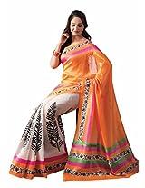 Ishin Bhagalpuri Solid Cotton Silk Sari