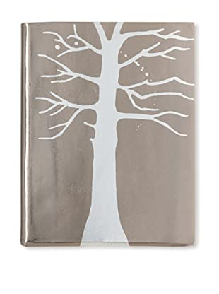 Sweet Bella Leather-Bound Tree Portrait Album, Pewter/Silver