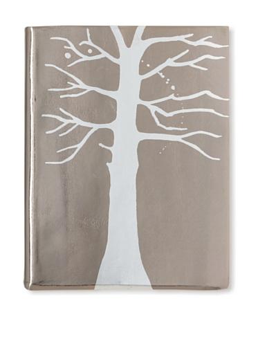 Sweet Bella Leather-Bound Tree Portrait Album, Pewter/Silver