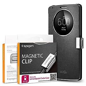 LG G3 Case, Spigen LG G3 Quick Circle Magnetic Clip Magnetic Holder for LG G3 Quick Circle Cover / Flip Cover for LG G3 **Cover is not included** - Magnetic Clip (SGP11016)