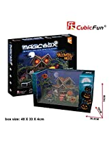 3d Puzzle Halloween Night Cubicfun Om3602 25 Pieces Decorative Best Seller Exiting Fun Educational Historic Playing Building Game Diy Holiday Kids Best Gift