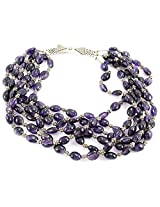 925-Silver Amethyst Chokar Necklace For Women 11569