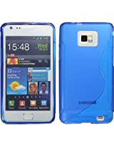 BLUE S-LINE TPU CASE FOR SAMSUNG GALAXY S II i9100 CRYSTAL S2