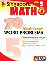 Singapore Math Must Know Word Problems - Level 5