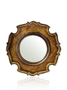 Venezia Ornate Carved Wooden Mirror (Bronze)