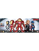 Kid Nations Series Kn-005 Marvel Avengers Age of Ultron Earphone Plugy 5pcs Set
