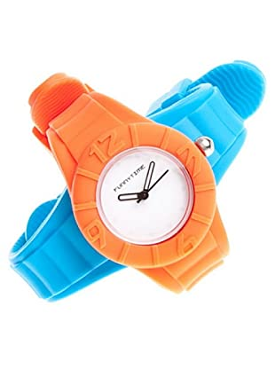 Funny Time Reloj Con Correas Intercambiables Azul / Naranja