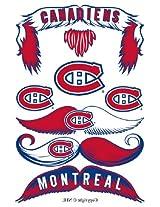 StacheTATS Montreal Canadians Temporary Mustache Tattoos