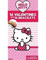 Paper Magic Hello Kitty Deluxe Valentine Exchange Cards with Bonus Bracelet (16 Count)