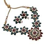 beautiful gold plated handmade kundan jadau meena Jewelry