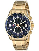 Invicta Men's 14878 Specialty Chronograph Dark Blue Textured Dial Gold Ion-Plated Stainless Steel Watch