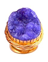 Gehna Marthandcrafted Purple Natural Stone Ring with gold platingFor Women