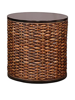 Jeffan Lina Round End Table, Natural