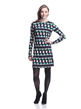 JB by Julie Brown Women's Morgan Printed Shift Dress (Green Fairisle)