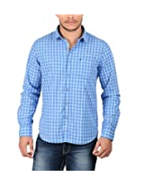 Oxemberg Men's Cotton Casual Shirt (MSL2106F_SKYBLUE_44)