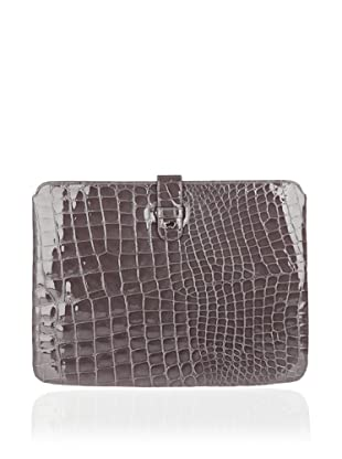 Braun Büffel iPad Etui Glanzkroko (Grau)