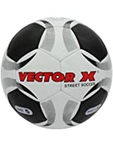 Vector X Street Soccer Synthetic Football  (White/Black)
