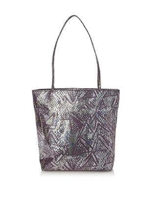 Falchi by Falchi Women's Tribal Print Small Tote with Cosmetics Bag, Black