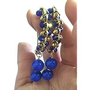 La Joyeria Golden Fancy Hooks with Crystal
