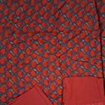 Red Dress Material With Dupatta