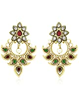 Peora Hyderabadi Imitation Pearl Earrings with Gold Plating (PFE748G)