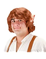 elope Bilbo Baggins Wig With Ears, Brown, One Size