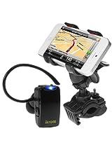 iKross Universal Bike Mount Handlebar Holder + Mini Wireless Bluetooth Handsfree Headset for Apple iPhone 6, 5S 5C 5, HTC One (M8) / (M7) Cellphone Smartphone and more