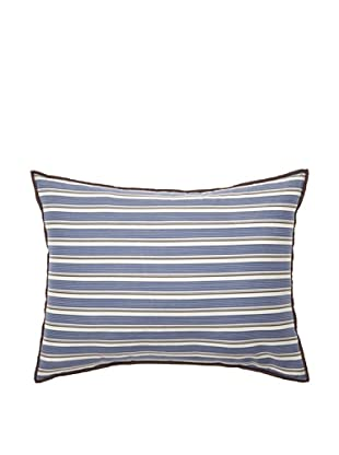 Tommy Hilfiger Reading Room Collection Stripe Breakfast Pillow, Navy