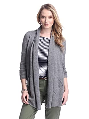 Cashmere Addiction Women's Open Cashmere Cardigan (Cloud)