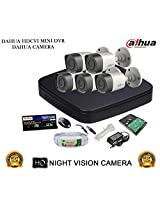 DAHUA HDCVI 8CH DH-HCVR4108C-S2 DVR + DAHUA HDCVI DH-HAC-HFW1000RP BULLET CAMERA 5Pcs + 1 TB WD HDD + 3+1 COPPER CABLE + POWER SUPPLY (FULL COMBO)