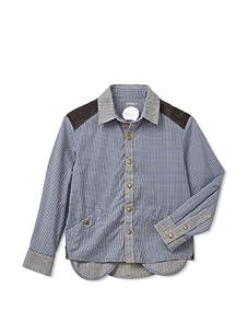 kicokids Boys Peeking Pocket Shirt (Lapis)