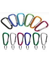144 VAS #5 50mm Bulk Pack MINI Aluminum Carabiners Key Chains - Assorted Colors