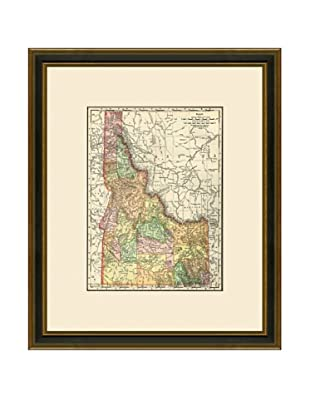Antique Lithographic Map of Idaho, 1886-1899