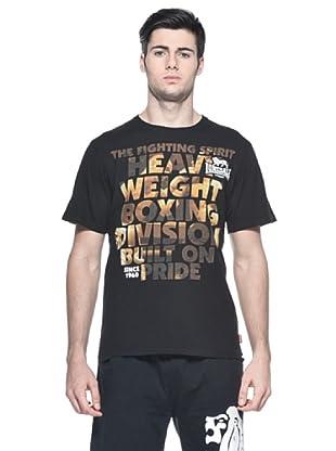 Lonsdale Camiseta Regular Print (Negro)