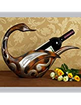 Vintage Polyresin Duck Statue Wine Bottle Bracket Decorative Goose Barware Ornament Craft Accessories for Home, Office and Bar