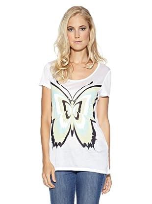 Cream T-Shirt Butterfly (Weiß)