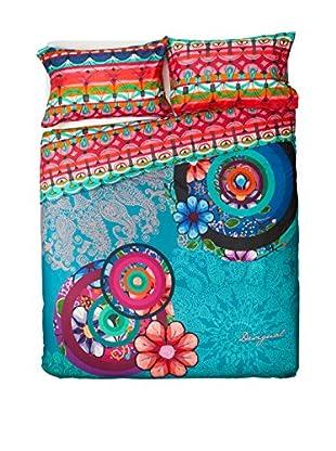 Desigual Bettdecke und Kissenbezug Handflower