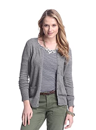 Cashmere Addiction Women's Pocket Cashmere Cardigan (Cloud)
